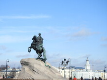 Statue Of Peter The Great Against Sky