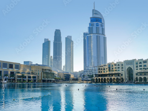 Fotografia Burj Khalifa park in Dubai