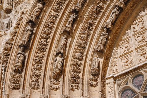 Decorative sculptures in the