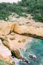 Hidden Beach With Hiking Path