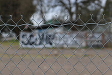 Chainlink Fence Graffiti