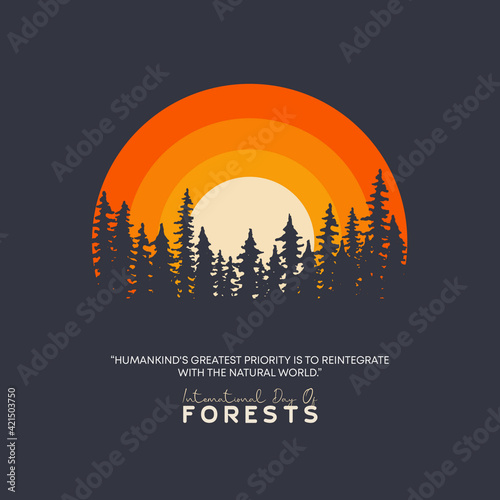 Fototapety, obrazy: International Day of Forests. March 21. Ecology and Earth day concept. Concept save forests.