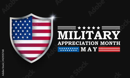 Fotografie, Tablou National Military Appreciation Month (NMAM) is celebrated every year in May and is a declaration that encourages U
