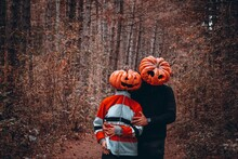 Halloween Love Couple In The Forest