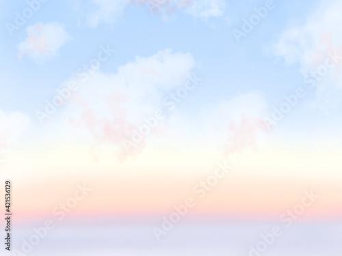 空 グラデーション 素材 Fotobehang