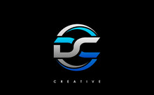 DC Letter Initial Logo Design Template Vector Illustration