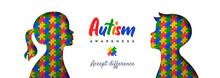 Autism Awareness Day Paper Cut Children Puzzle