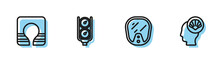 Set Line Diving Mask, Life Jacket, Gauge Scale And Scallop Sea Shell Icon. Vector