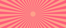 Retro Sun Rays Yellow Background - Vector.