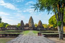 Phimai Historical Park, Ancient Castle (Prasat Hin Pimai) In Nakhon Ratchasima, Thailand