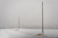 Snow Covered Power Lines