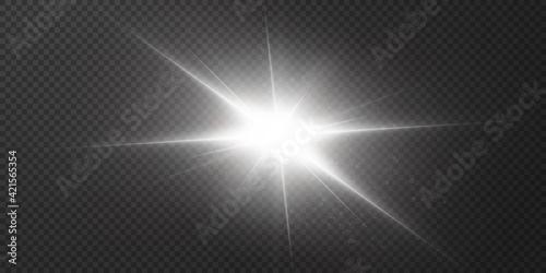 Abstract transparent sunlight special lens flare light effect Fototapet