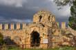 canvas print picture - Byzantinische Kirche auf dem Burgberg von Alanya, Türkische Riviera, Mittelmeerregion, Kleinasien,Türkei