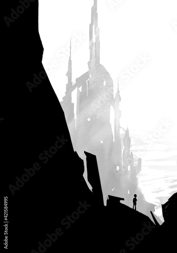 Fototapeta Fantastyczny zamek obraz