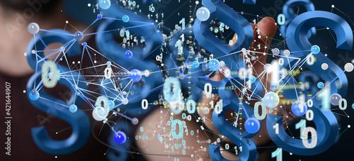 Obraz na plátně Lawyer and advocate on-line law services concept.