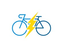Electrical Bike With Yellow Lightning Inside
