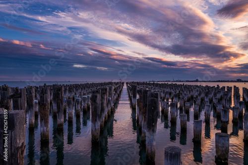 Princess Pier Under The Sunset