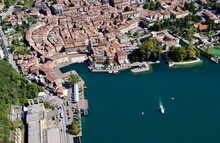 High Angle View Of Buildings In City Riva Del Garda