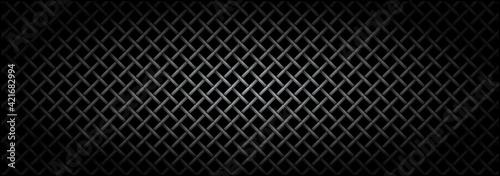Fotografia, Obraz Metal grid microphone texture.