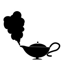 Magic Lamp Logo  Illustration Design