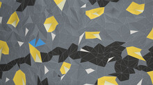 Abstract Painting Of Yellow Flowers From Polyline Polygons