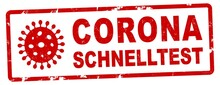 Nlsb1546 NewLongStampBanner Nlsb - German Label / Banner - Deutsch: CORONA Schnelltest . Virus, Coronavirus - Testing For Covid-19 - 2komma6zu1 - New-version - Xxl G10389