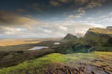 Scotland Highlands On Skye Isle. Quiraing
