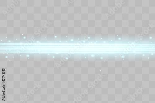 Fotografie, Tablou Abstract blue laser beam