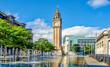 canvas print picture - Albert Memorial Clock Tower   Belfast  Nordirland