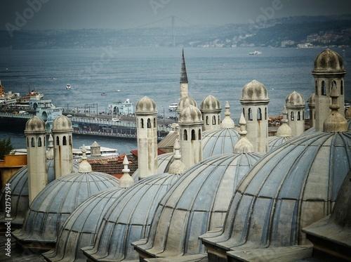 Domes And Cupolas Of Bayside Building Fotobehang