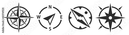 Obraz na plátně Compass icons set