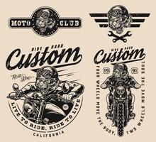 Custom Motorcycle Vintage Prints