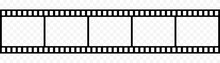 Film Strip Icon Isolated On Transparent Background. Tape Photo Film Strip Frame, Video Film Strip Roll, Vector Illustration