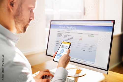Obraz na plátně 2 Factor Virtual Bank Authentication