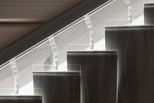 Standard Vertical Blinds On An Inclined Track