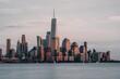 Sunset View Of New York City Manhattan
