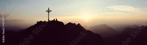 Obraz Silhouette Temple Against Sky During Sunset - fototapety do salonu