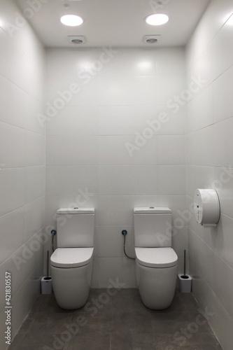 Obraz Empty Seats In Bathroom - fototapety do salonu