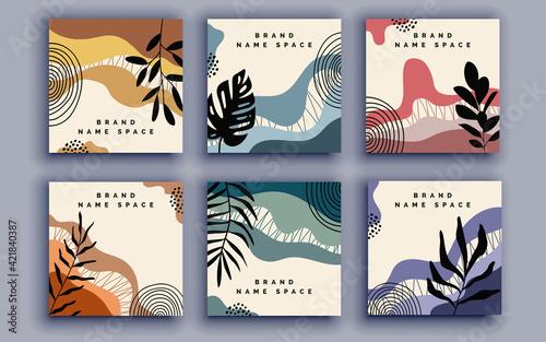 Fototapeta Set of sale banner template design. Vector illustration. obraz