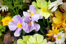 Retro Artificial Flowers Bouquet, Fake Cloth Flowers