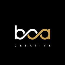 BOA Letter Initial Logo Design Template Vector Illustration