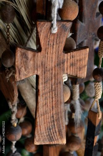 Easter week, cross of God Fototapet