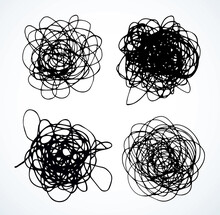 Unravel The Tangled Tangle. Vector Drawing