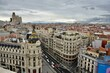 Madrid. High Angle View Of Buildings In City