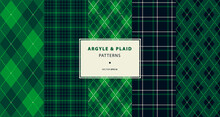 Argyle And Plaid Pattern Collection