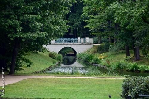 Fototapeta Park, Łazienki Królewskie w Warszawie, alejki spacerowe obraz