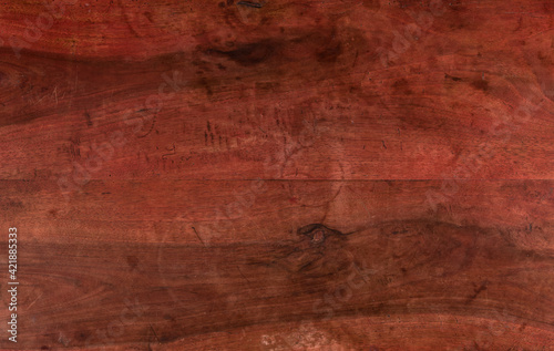 Fototapeta wooden background texture. Old purple natural wood table with used signs obraz
