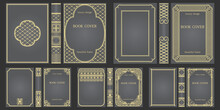 Set Of Books Cover And Spine Design Template. Ornate Vintage Frames Or Borders To Be Printed On Covers Of Book. Retro Frames. Classical Brochure Design. Presentation Cover.