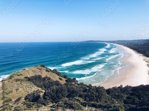Papel de parede Scenic View Of Sea Against Clear Sky In Byron Bay
