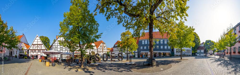 Fototapeta Am Seel, Soest, Nordrhein-Westfalen, Deutschland